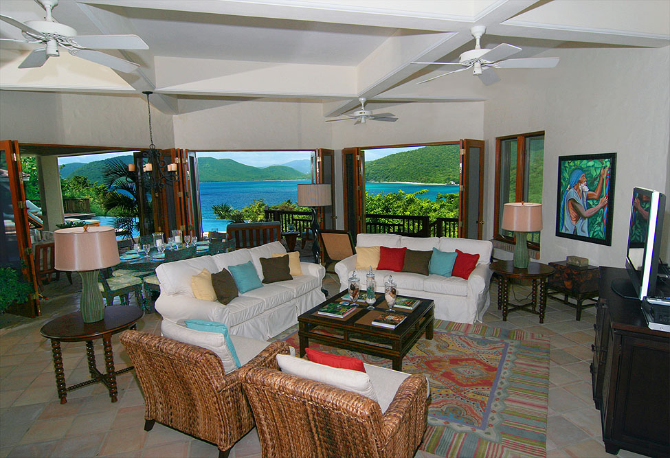 The Sunspot Living Room With Folding Doors That Completely Open To Peter  Bayu0027s Magnificent Caribbean Setting
