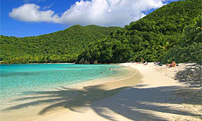 A Photograph of Hawk's Nest Beach, St. John