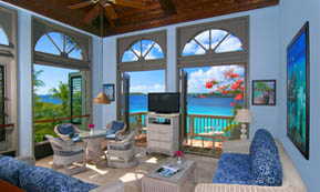 A Photograph of  Gallows Point Resort Suite 8C, and Ocean View Upper.