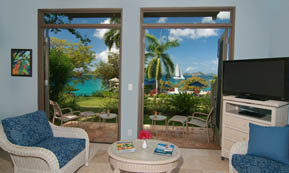 A Photograph of Gallows Point Resort Suite 9A, an Oceanview Lower.